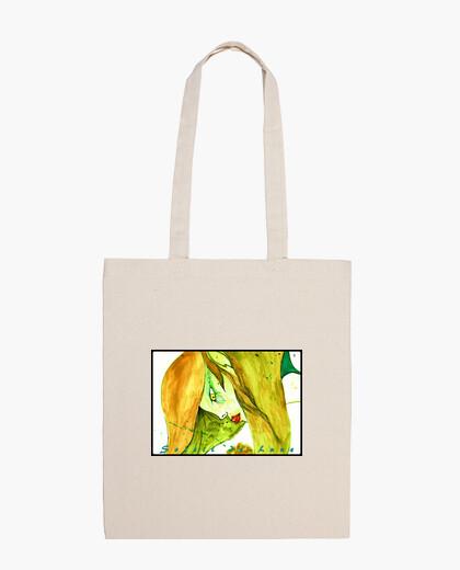Bolsa bandolera de tela de una mujer -douceur