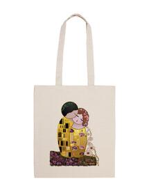 Bandolera Kokeshi El Beso estilo Klimt