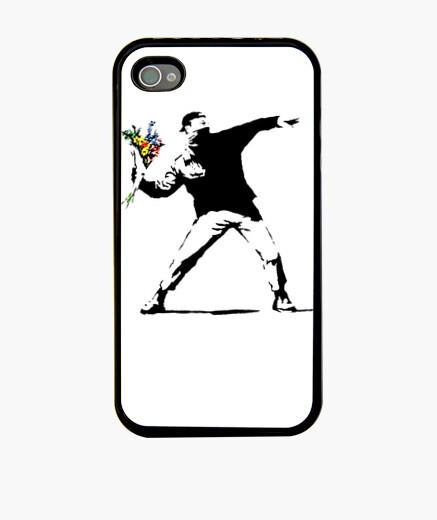 Banksy Flower Thrower Fundas Iphone