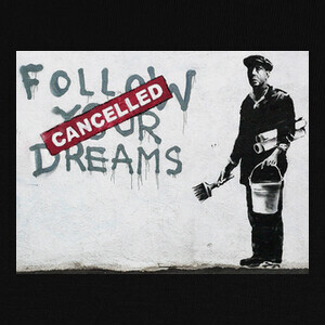 Camisetas Banksy Follow your Dream