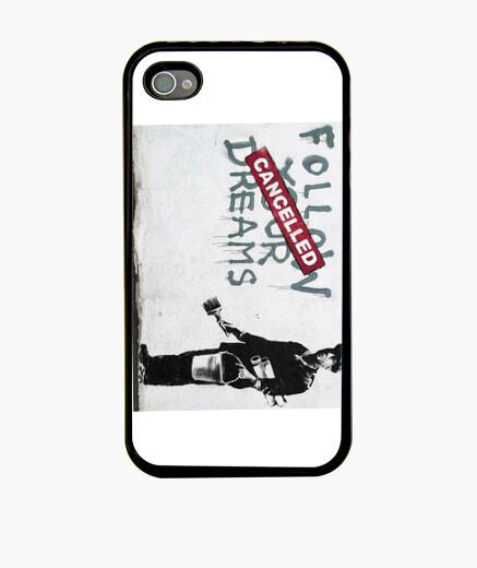 banksy follow your dream fundas iphone