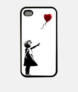 Banksy Girl With Balloon Fundas Iphone