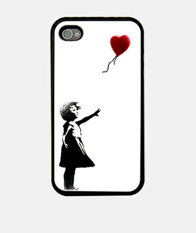Banksy Girl With Balloon Fundas Iphone