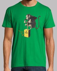 Banksy mono con detonador y bomba de platanos (con impresion en las dos caras)