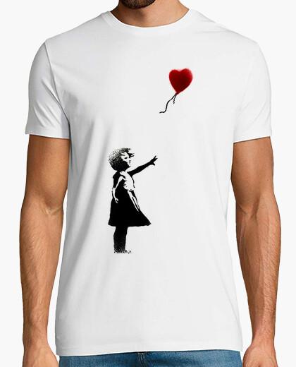 Camiseta Banksy niña globo friki