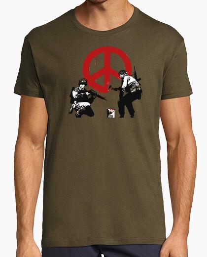 Camiseta banksy no war