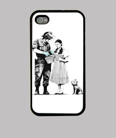 Banksy Stop and Search Fundas Iphone