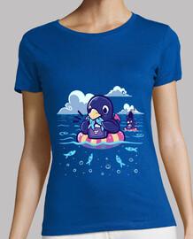 banquete de la sardina del verano - camisa de la mujer