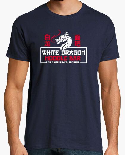 Tee-shirt bar à nouilles dragon blanc
