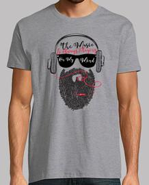 barbe hipster musique écouteurs