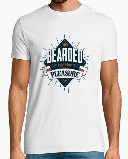 Barbudo hombre camiseta para su placer