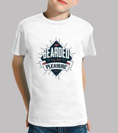 barbudo niño camiseta para su placer