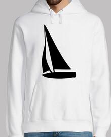barca a vela nera