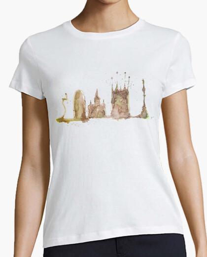 T-shirt barcelona girl a manica corta bianca