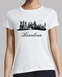 barcelona skyline (spain)