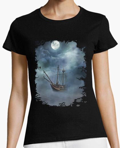 Camiseta Barco bajo la luna