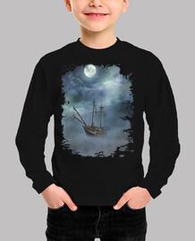 Barco bajo la luna
