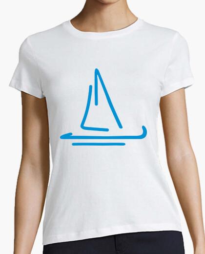 Camiseta barco de vela azul