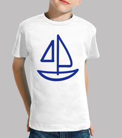 barco de vela azul