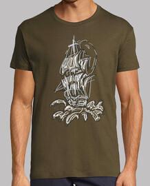 Barco pirata mar verde