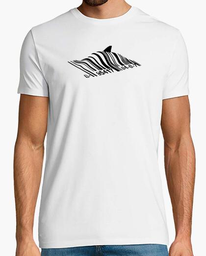 T-shirt barcode shark