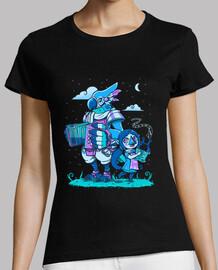 bardos de aves - versión de noche - camisa de mujer