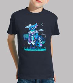 bardos de aves - versión de noche - camisa de niños