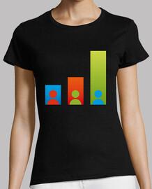 barra camiseta chica negro