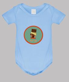 barra de chocolate // body bebé / azul