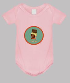 barra de chocolate // body para bebé / rosa