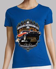 barracuda muscle car road burn