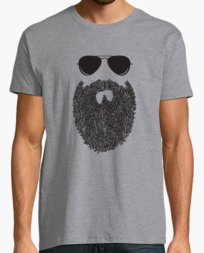 T-Shirt bart hipster brille mann geschenk