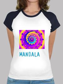 baseball  tee shirt  multicolore mandala