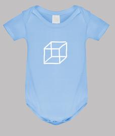 basic cube white baby