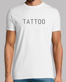 Basica Tattoo tatuajeHombre, manga corta, blanco, calidad extra