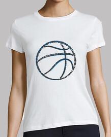 basket-ball typographie (womens blanc)