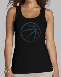 basket tipografia (donne serbatoio nero)