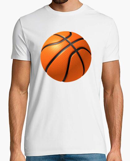 Camiseta Basketball Ball Blanca