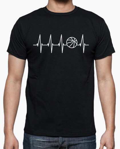 Basketball in the heart (dark background) t-shirt