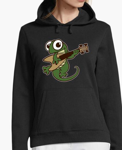 Bass guitar lizard hoody