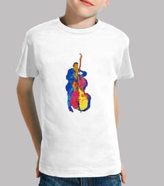 bassista jazz moderno multicolor