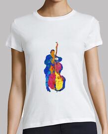 bassiste jazz moderne multicolore