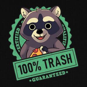 Camisetas Basura 100 Mapache Panda