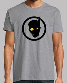 BAT POP Tee shirt homme, Gris chiné, qualité supérieure