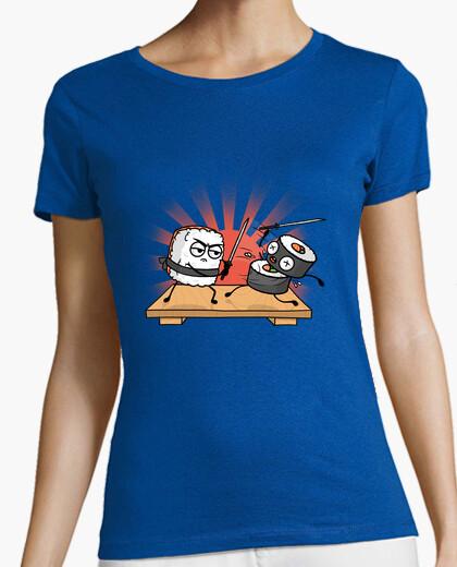 Camiseta batalla de sushi samurai