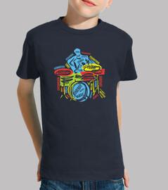 baterista colorido diseño musical