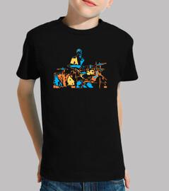 baterista creativo arte moderno estilo