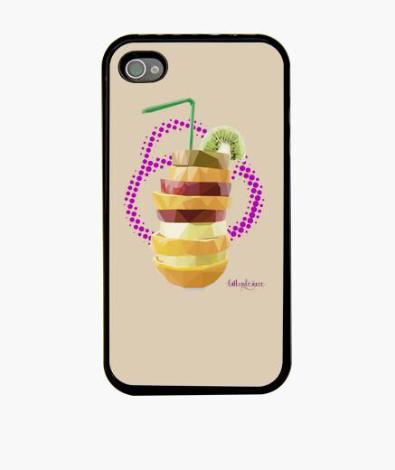 Batido de frutas (Funda iPhone 4, negra)
