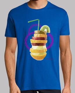 Batido de frutas (Hombre, manga corta, azul royal, calidad extra)