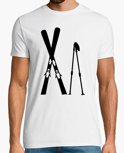Tee-shirt bâtons de ski croisées